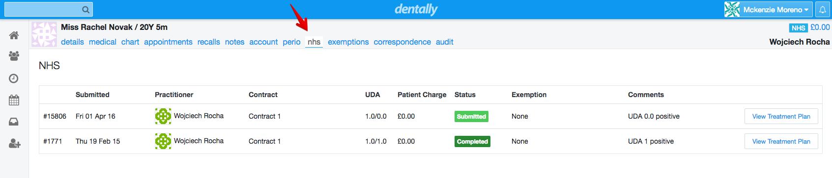 Dentally - Dental Software - NHS