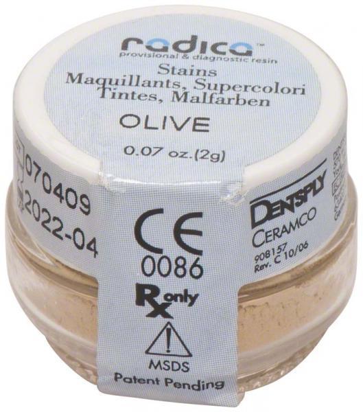 ECLIPSE® radica™ Tiegel 2g stains Malfarbe olive - dentalzon