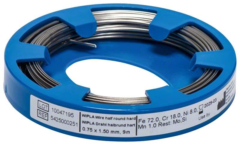 Wipla Draht Rolle 9 m, 0,7 x 1,5 mm - dentalzon