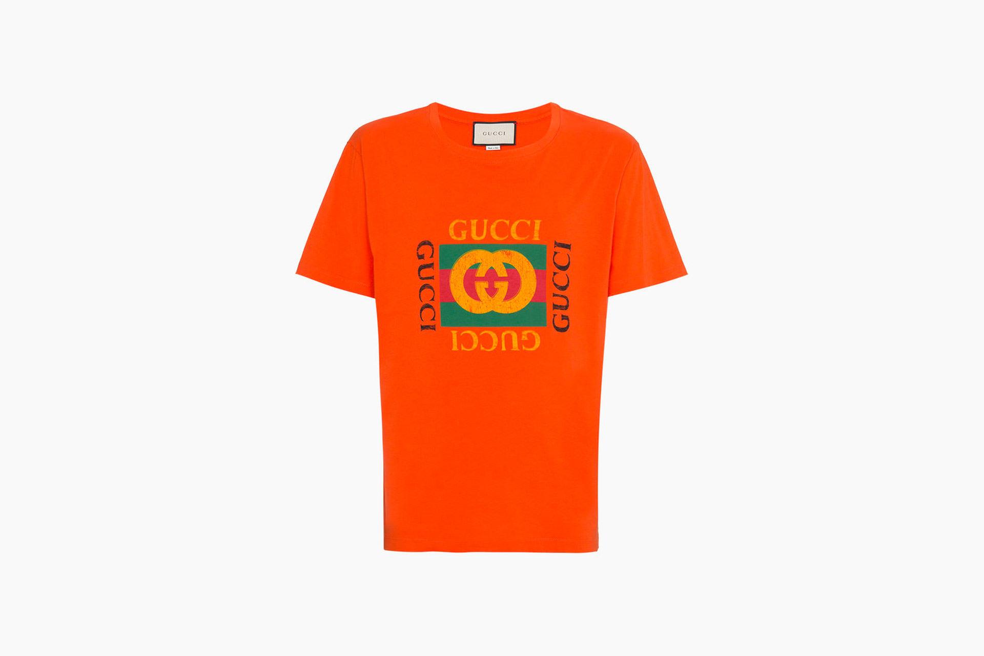 a4383506b6a1 Gucci Logo Print T-Shirt Orange