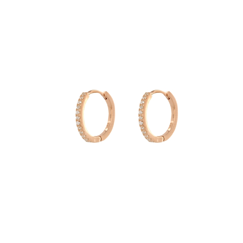024e6c5dadfb6 Classy Design Rose Gold Colour 925 Sterling Silver Hugging Earrings studded  with CZ