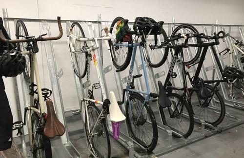 Coworking bike racks