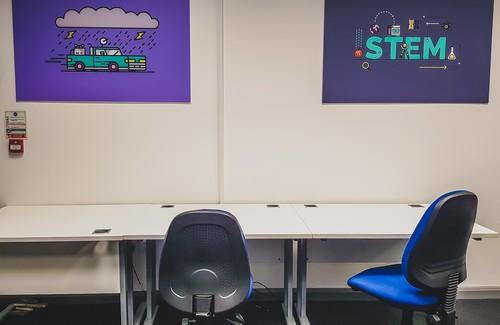 Their desks