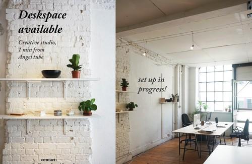 Deskspace set up
