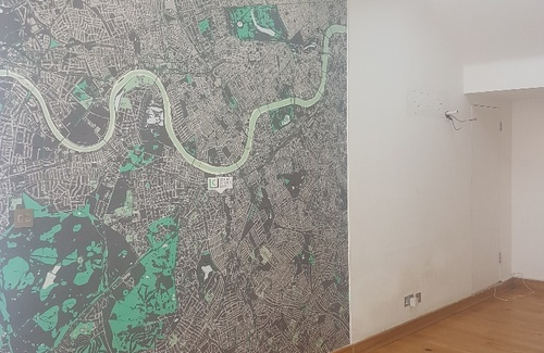 Front office map wall