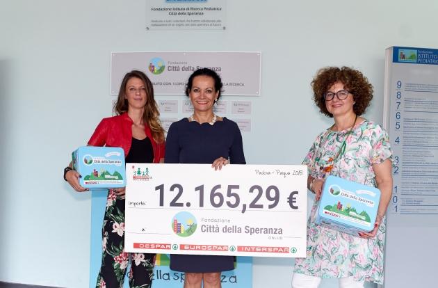 Consegnati € 12.165,29 alla Città della Speranza