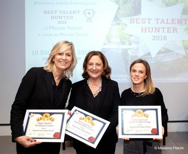 """Best Talent Hunter 2018: La """"caccia ai talenti"""" di Despar premiata dall'Università di Padova"""