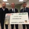 Emergenza maltempo in Veneto: abbiamo consegnato centomila euro al Presidente Zaia