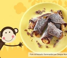 Crepes banane e cioccolato