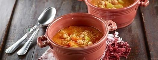 Zuppa di miglio e ceci al curry