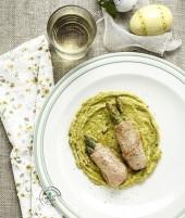 Bocconcini di bovino con asparagi verdi Punti - 20