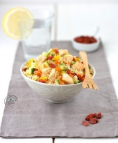 Cous cous con verdure, pollo e bacche di Goji Punti - 20