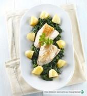 Filetti di scorfano con spinaci e patate novelle Punti - 0