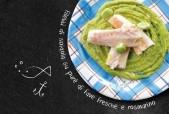 Filetti di spigola su purè di fave fresche e rosmarino Punti - 20