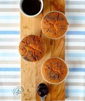 Muffin integrali ripieni di composta di frutti di bosco Punti - 0