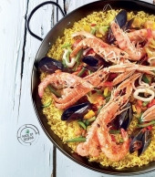 Paella alla valenciana con riso integrale Punti - 0