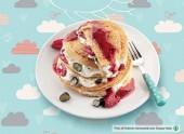 Pancake integrali con frutti di bosco e yogurt greco alle nocciole Punti - 0