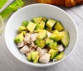 Condimento sano: petto di pollo, mela e avocado Punti - 0