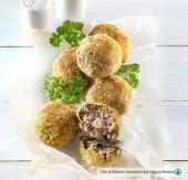 Polpettine di carne al forno con coste e catalogna Punti - 0