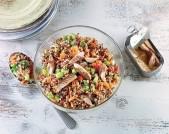 Insalata di quinoa con caponatina di verdure estive e sgombro Punti - 0
