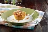Sformatini di riso integrale con zucca, noci e noce moscata su fonduta al caprino Punti - 0