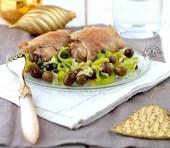 Sovracosce di pollo con porri, olive taggiasche e pinoli Punti - 0