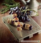Spiedini di pollo e uva nera Punti - 0