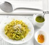 Tagliolini integrali con pesto di pistacchi e agrumi Punti - 0