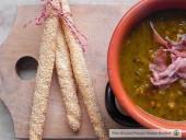 Zuppa ai cereali con zucca, porcini e speck croccante Punti - 0