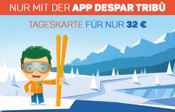 Skipass-Rabatte nur mit der App Despar Tribù