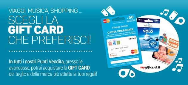 Scegli la tua Gift Card!