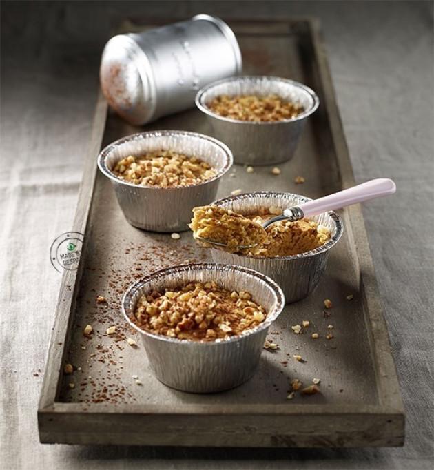 Budino di castagne al cacao con granella di nocciole