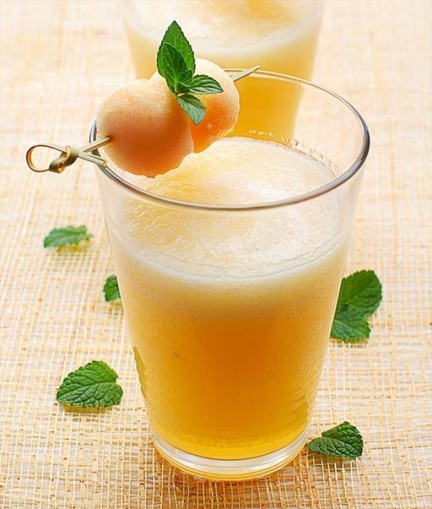 Cocktail di melone e pesche