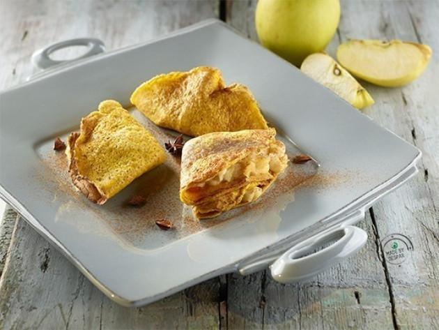 Crêpes con mele al forno speziate