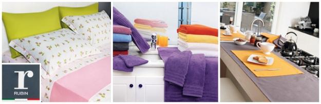 <p><strong>Mit Rubin kommt absolutes Wohlbefinden zu Ihnen nach Hause und in Ihr Leben</strong><strong>: raffiniert im Badezimmer, gefragt in der K&uuml;che und kuschelig im Bett und auch der Preis l&auml;sst Sie entspannt zur&uuml;cklehnen. Die Rubin- Kollektion umfasst </strong><strong>eine grenzenlose Vielfalt an Bettw&auml;sche, Frotteewaren f&uuml;r das Bad und K&uuml;chenartikeln</strong><strong> - mit der garantierten Qualit&auml;t der Marke &ldquo; Fiducia nel tessile&rdquo; und in Italien produziert.</strong></p>