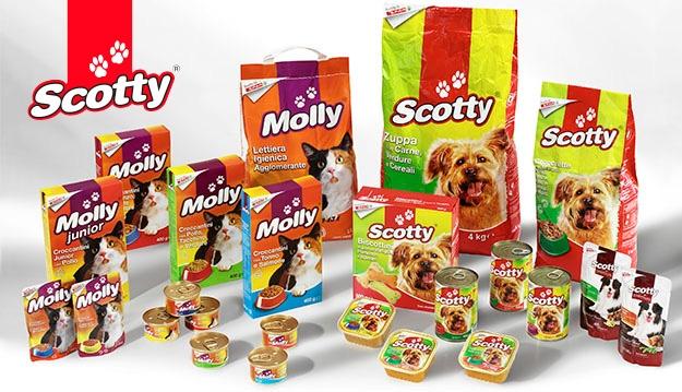 <p>Um was bitten uns unsere kleinen, grossen vierbeinigen Freunde? Ihre Ern&auml;hrungsbed&uuml;rfnisse mit einer gro&szlig;en und vielseitigen Auswahl an Produkten zu befriedigen. <strong>Die Linie Scotty, eine Despar-Exklusivmarke, bietet eine Vielzahl an Trockennahrung und Nassfutter f&uuml;r den Hund.</strong> Ein ausgewogener Speiseplan, erg&auml;nzt mit Vitaminen und frei von Konservierungs- und Farbstoffen, tr&auml;gt zu einer langen Freundschaft bei.</p>