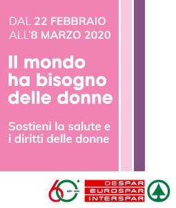 Dal 22 febbraio all'8 marzo sostieni la salute e i diritti delle donne