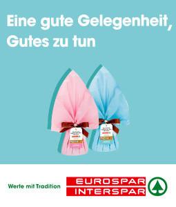 Kaufen Sie bis Ostern in den Eurospar- und Interspar-Filialen Ihres Vertrauens eine Glocke aus Schokolade