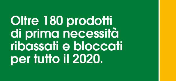 Prezzi ribassati e protetti fino al 2020
