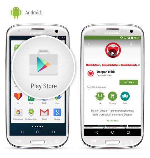 Despar Tribù installazione android