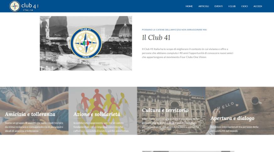 Club41 homepage