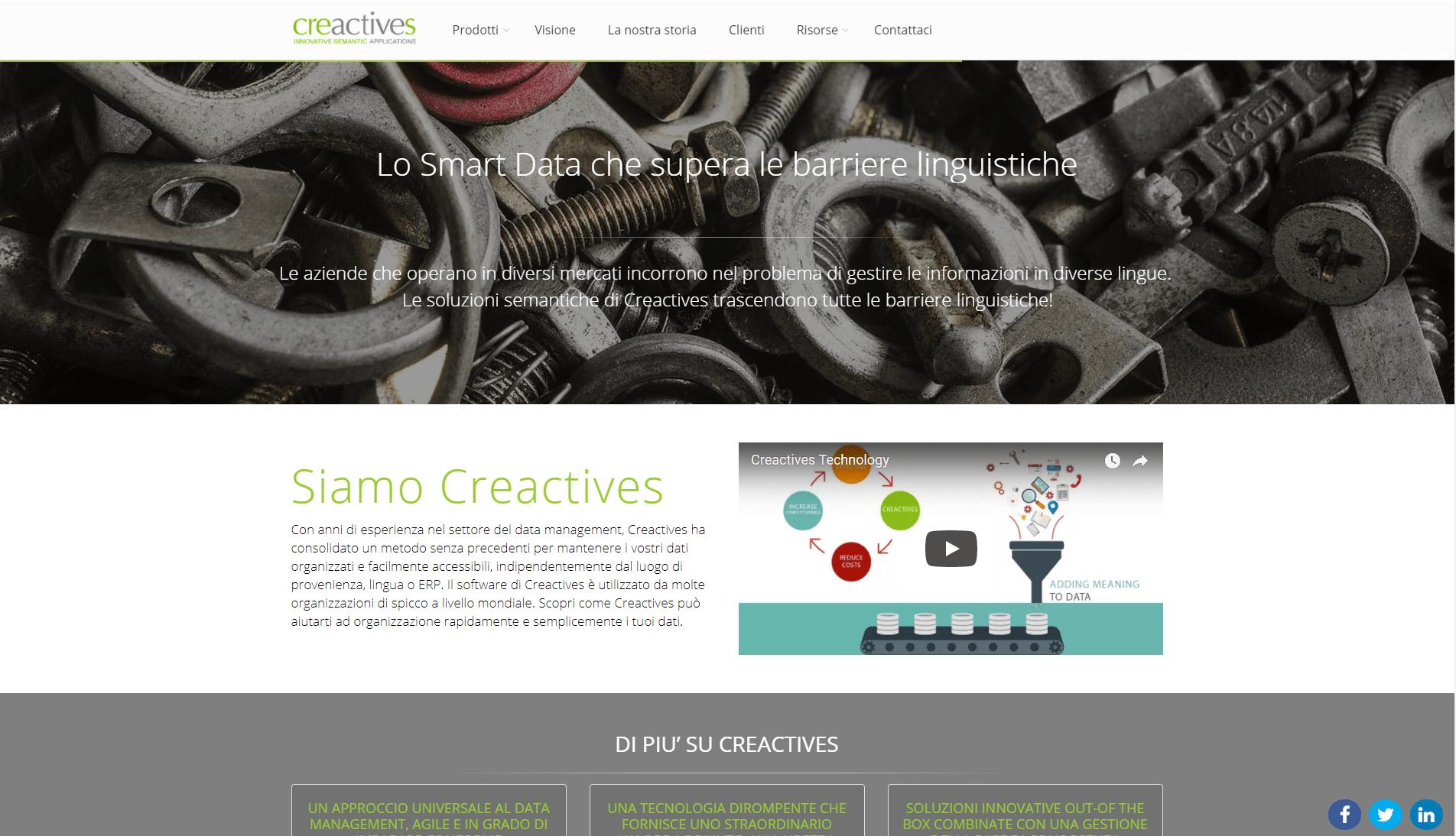 Creactives homepage