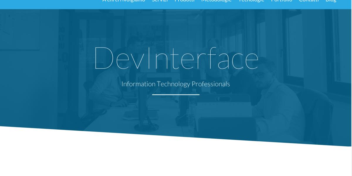 Il nuovo sito DevInterface