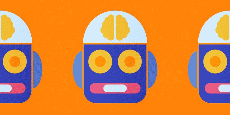 Gruppo di chatbot disegnati