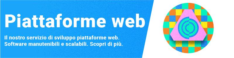 banner per il servizio di sviluppo piattaforme web