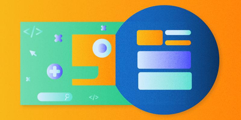 illustrazione bottoni e elementi di interfaccia