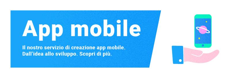 servizio di creazione app mobile