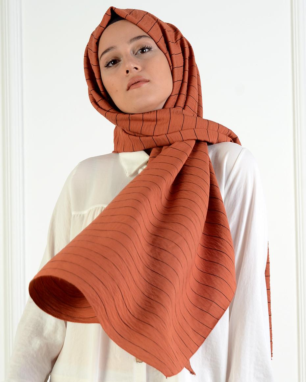 ÇİZGİLİ ŞAL Orange