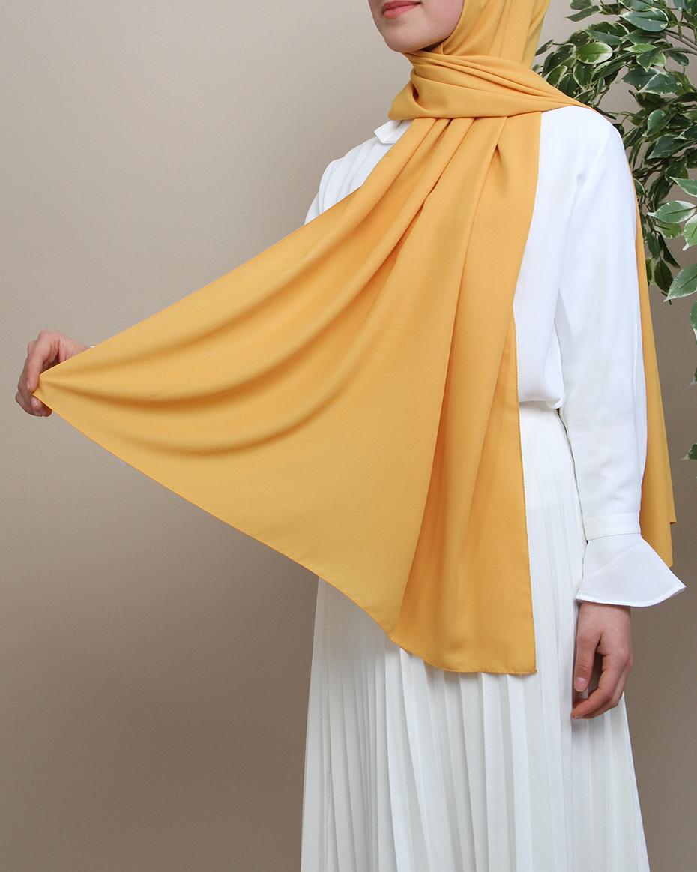 Pırlanta Krep Şal Sarı