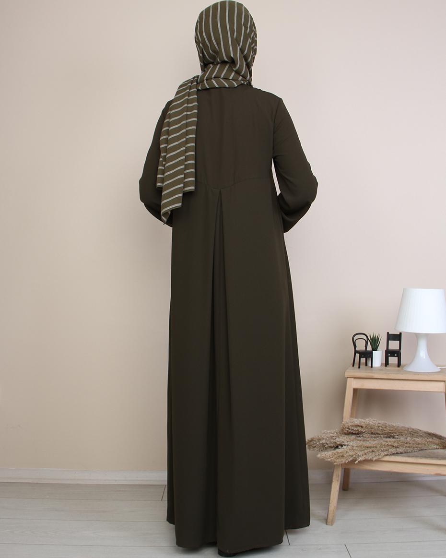 A pileli Elbise HAKİ